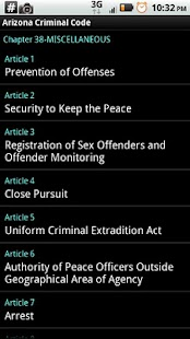 Arizona Criminal Code- screenshot thumbnail