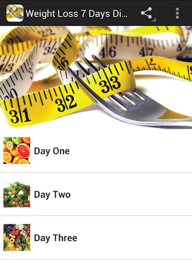 Weight Loss 7 Day Diet Plan