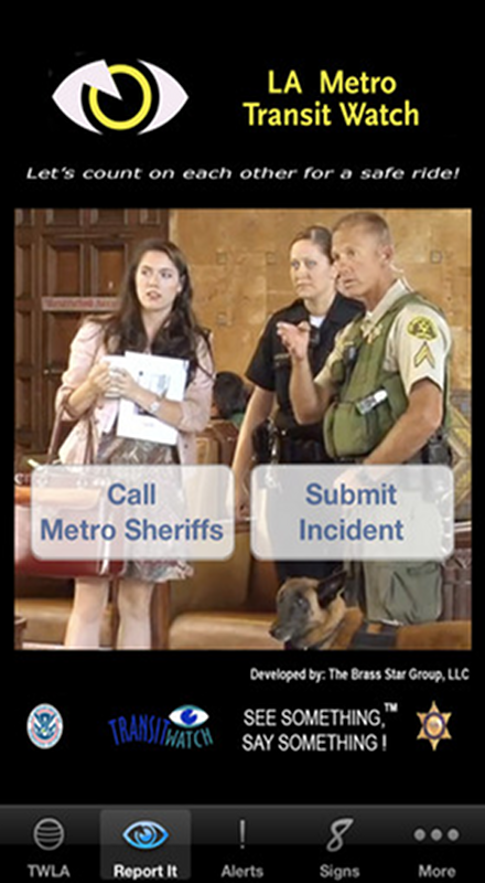 LA Metro Transit Watch- screenshot
