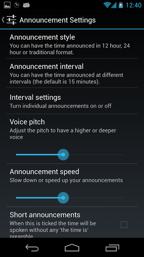 Audio Clock - screenshot