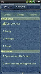 Denim GO SMS Theme- screenshot thumbnail