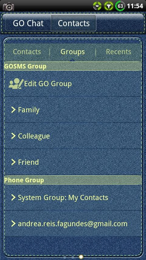 Denim GO SMS Theme- screenshot