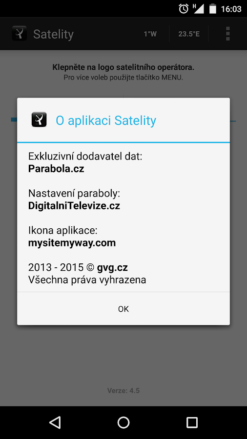 Satelity- screenshot