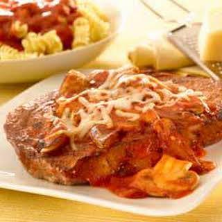 Steak Pizzaiola With Mozzarella.