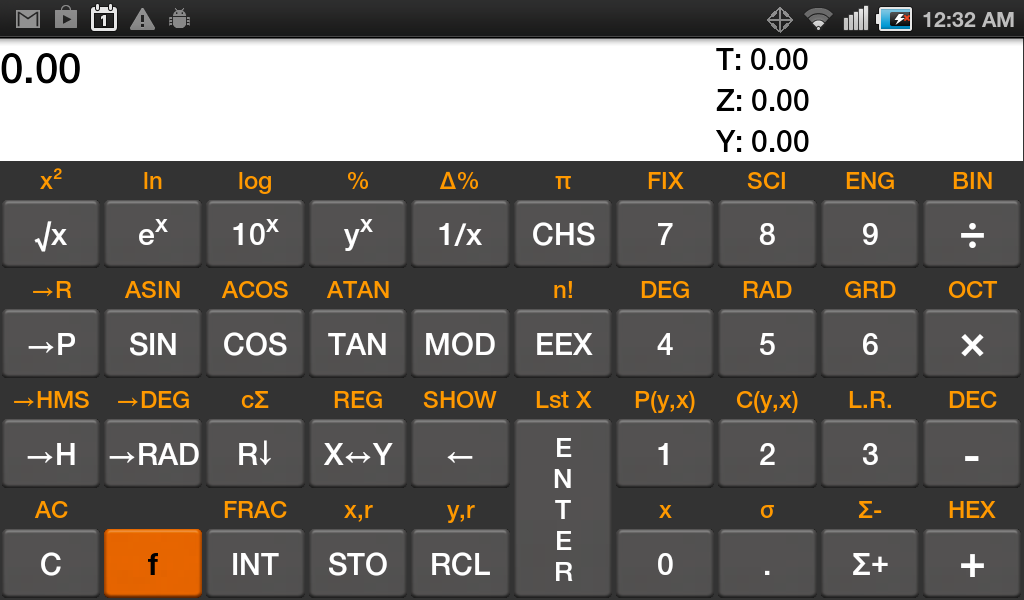 RpnCalc - screenshot
