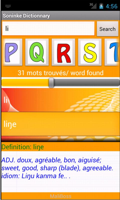 Soninke Dictionnary- screenshot
