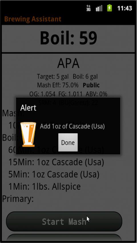 Brewing Assistant Free- screenshot