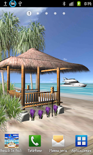 Beach In Bali 3D FREE LWP - screenshot thumbnail