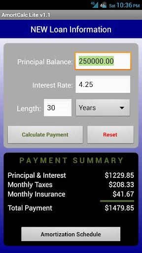 AmortCalc LITE Loan Calculator