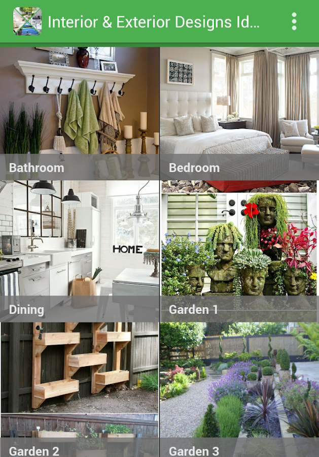 interior and exterior designs screenshot