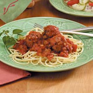 Spaghetti Sauce with Meatballs.