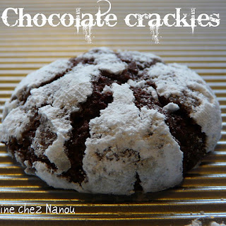 Martha Stewart's Chocolate Crakle Cookies.