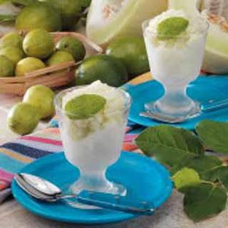 Lime Honeydew Sorbet.