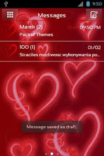 GO SMS Pro Theme Romantic - screenshot thumbnail