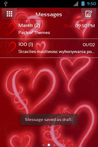 GO SMS Pro Theme Romantic- screenshot