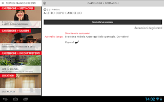 Screenshot of Teatro Franco Parenti