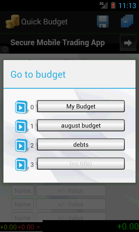 Quick Budget- screenshot
