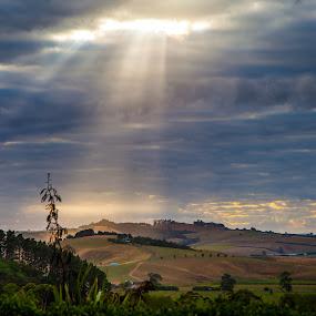A little break through by Sheena True - Landscapes Cloud Formations ( mystic, colour, cloud, sunrise, landscape )