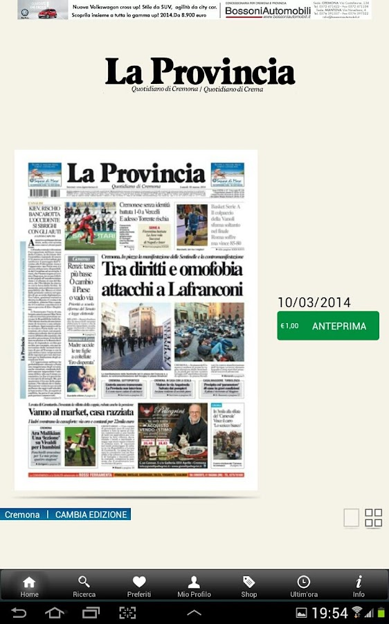La Provincia- screenshot