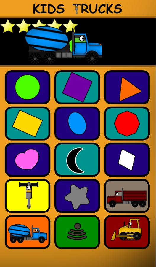 Kids Trucks: Preschool Free- screenshot