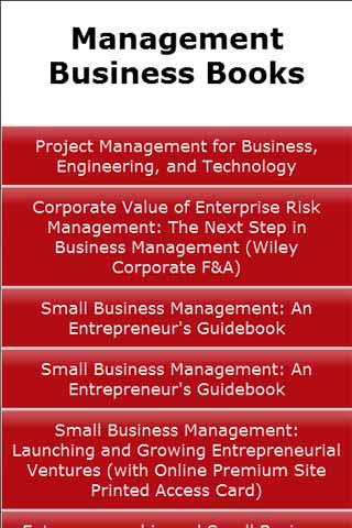 Management Business Books
