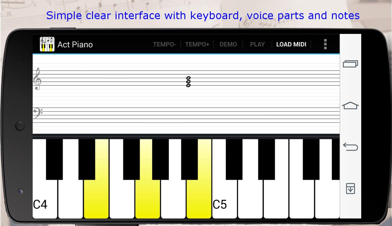 Act Piano :notation midi score - screenshot