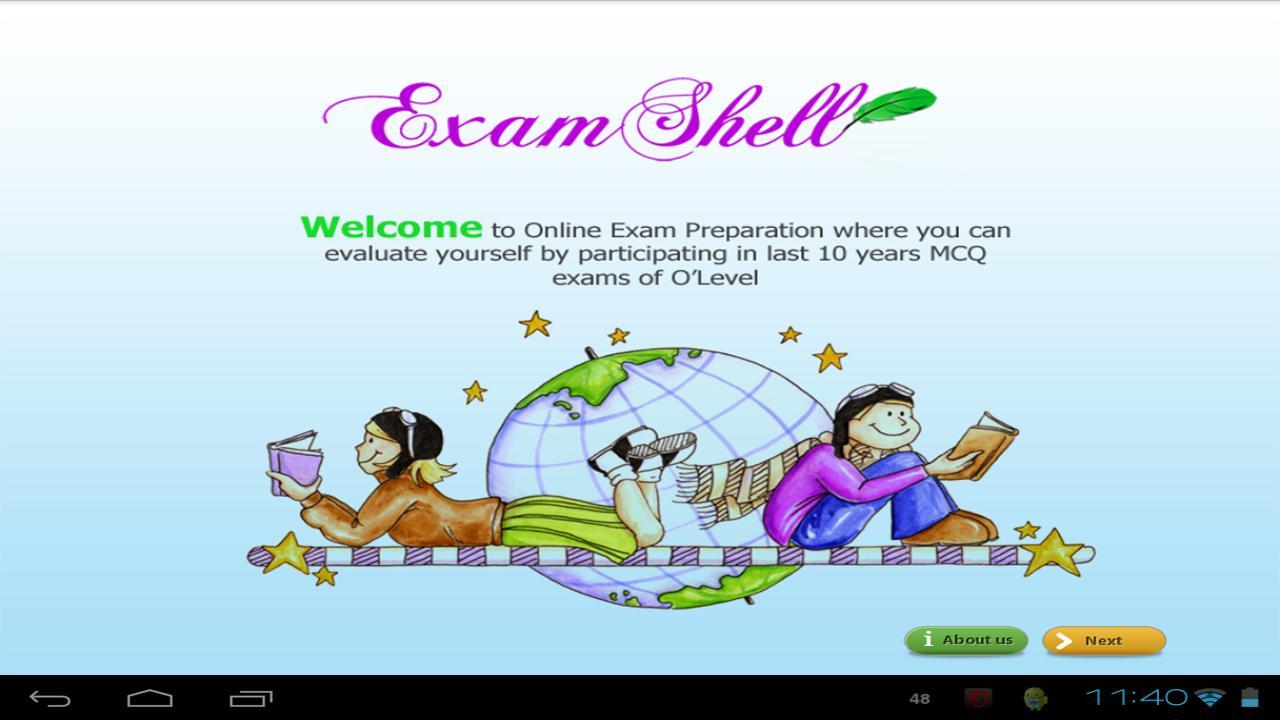 Exam Shell - O/A Level - screenshot