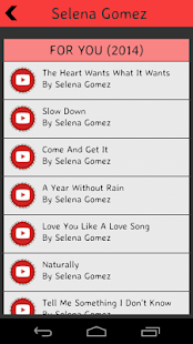 Selena Gomez Lyrics screenshot