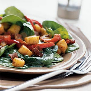 Scallop and Spinach Salad with Warm Dressing.