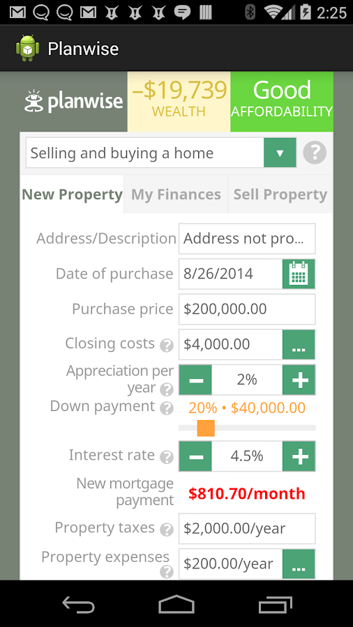 Home Affordability Calculator Android Apps On Google Play