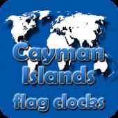 Cayman Islands flag clocks