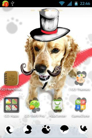 GO Launcher EX Cute Dog Theme - screenshot