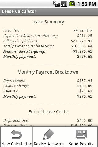 how to calculate a car lease