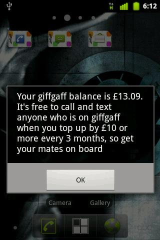 giffgaff - screenshot