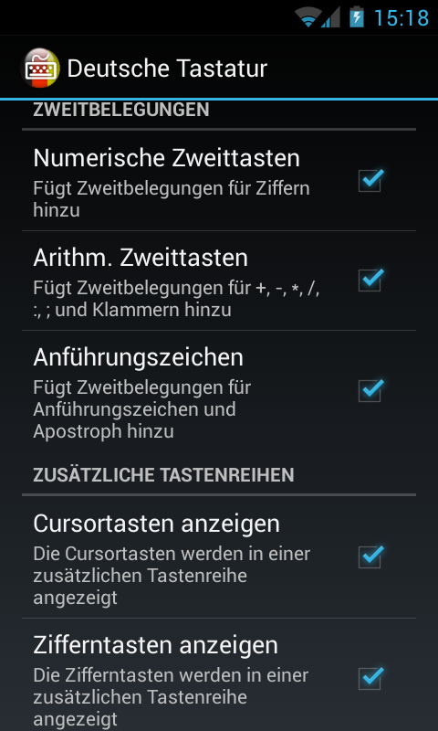 Deutsche Tastatur- screenshot