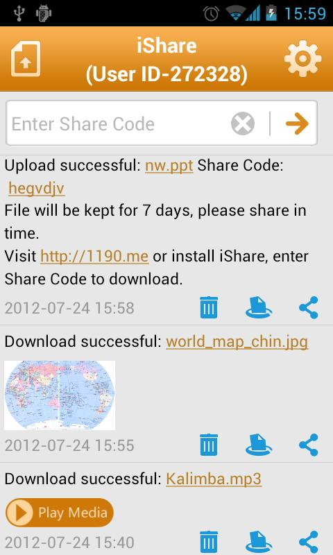iShare - screenshot