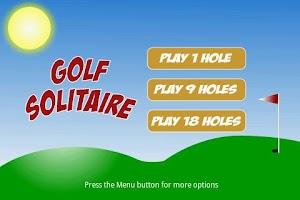 Screenshot of Golf Solitaire