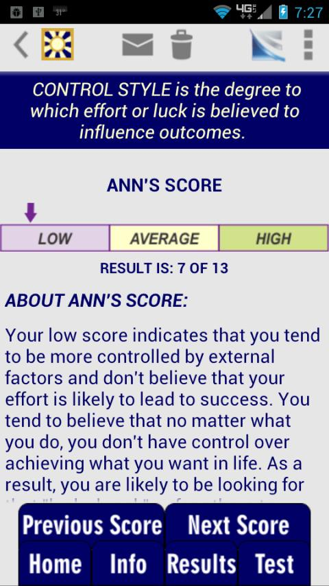 Cognitive Styles CBT Test - screenshot