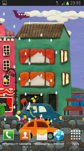 Plasticine town Live wallpaper - screenshot thumbnail
