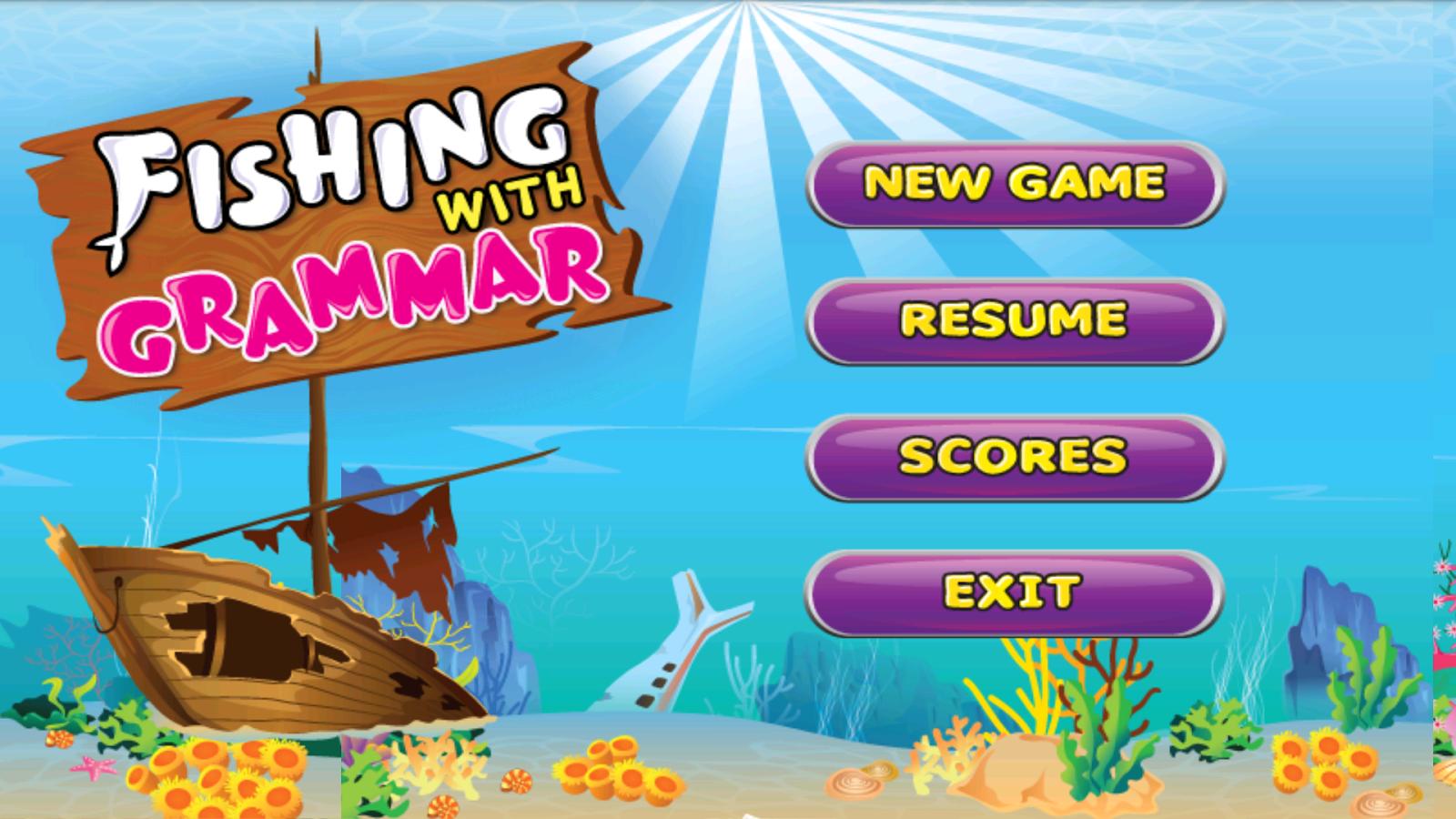Fishing games for kids to play - Kids English Grammar Fish Game Screenshot