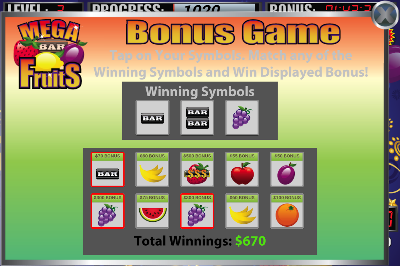 Mega Fruits Slot Machine - screenshot