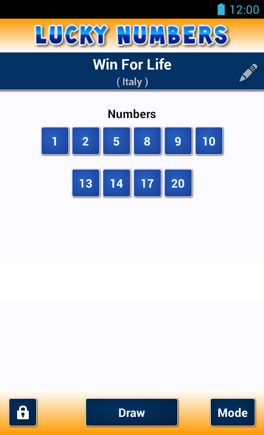 Lucky Numbers- screenshot