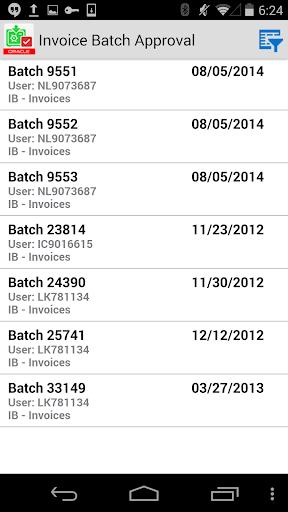 Invoice Batch Appr for JDE E1