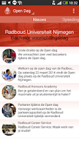 Screenshot of Radboud Universiteit Open Dag