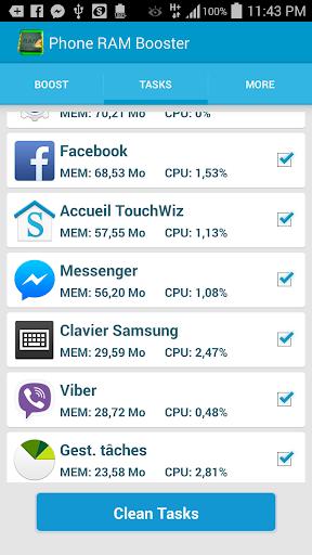 Phone RAM booster optimizer