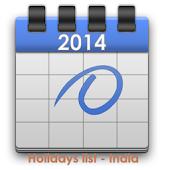 HOLIDAYS LIST, INDIA