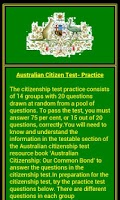 Screenshot of Citizenship Test - Australian