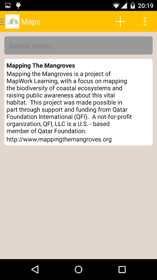 Mapping the Mangroves- screenshot