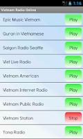 Screenshot of Vietnam Radio Online