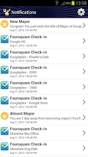 Uber Checkin 4sq auto checkin- screenshot thumbnail
